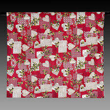 Tischdecke Rot mit Oliven und Herzen 175x140 100% Baumwolle NEU Provencestil