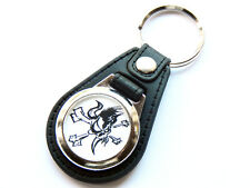 More details for metallica heavy metal band quality leather and chrome keyring