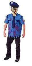 Para Hombre Zombie Cop policía Hombre Fancy Dress Costume Halloween Tenebroso Outfit Máscara Macho