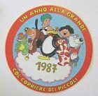 VECCHIO ADESIVO / Old Sticker CARTOON CORRIERE DEI PICCOLI 1987 (cm 15)