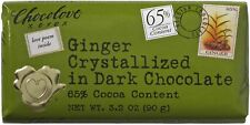 Chocolove Ginger Crystallized in Dark Chocolate, 3.2 oz bars 12 ea
