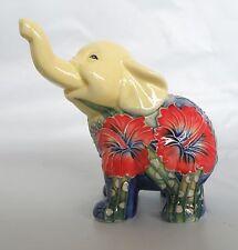 Old Tupton Hibiscus Ceramic Elephant Figurine * New in Box * Elephant Gift