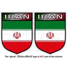 """IRAN Iranian Shield Persia, Persian Vinyl Decal, Bumper Sticker 3"""" (75mm) x2"""