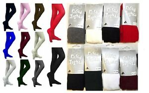 Girls Cotton Rich Super Soft School Tights  Age 3 - 13 Years Assorted Colours