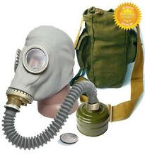 Gray Full Set Size - 3 Large + Hose Soviet Russian Military Gas mask GP-5 New