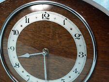 Vintage Art Deco John D Francis  Wood Case Mantel Clock England