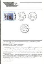 ITALIA 1997 GALILEO FERRARIS  BOLLETTINO COMPLETO DI FRANCOBOLLI  FDC