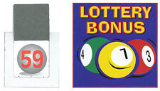 10 Sets of Lottery Bonus Ball Tickets / Cards for Fundraising Events 1-59