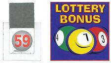 10 Juegos De Tarjetas/Billetes de Lotería Bono bola para eventos de recaudación de fondos 1-59
