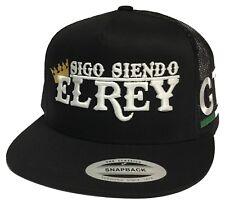 SIGO SIENDO EL REY DE GUANAJUATO MEXICO HAT 2 LOGOS BLACK MESH SNAPBACK