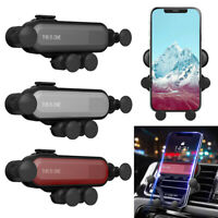 Universal Gravity Car Phone Holder Air Vent Mount Stand Cradle For Cell Phone UK