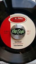 FATS DOMINO/JIMMY RICKS 45 RE-SO GLAD/GIGGLIN & WIGGLIN - GREAT 60s R&B LISTEN