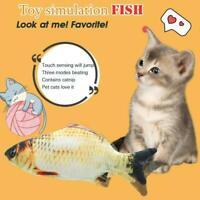 Elektrisch Katzenspielzeug cat toys Fish Spielzeug Kratzbaum Katzenminze Ki B7Y3