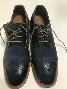 Allan Edmonds Men's casual leather Shoes Size 9.5 fits 10.5 Navy