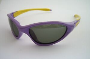 POLAROID SUNGLASSES SPORTS WRAP P0701 PURPLE YELLOW POLARISED BNWT CHILDRENS