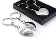 Personalised Split /Joining Love Heart Keyrings - Engraved