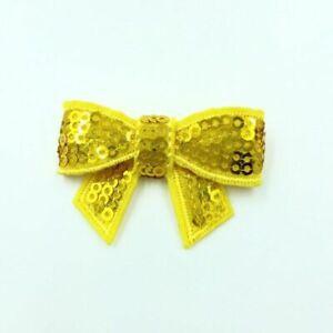 10pcs/lot Shiny Sequin Bowknots 5cm Applique Headband Bows Kids Hair Accessories