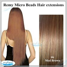 """24"""" Indian Remy Micro Beads I Tip Hair extension 50g Double Drawn #6"""