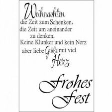 Stempel Clear, Frohes Fest, A7, 2 - teilig, transparent - Scrapbooking