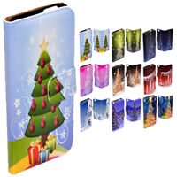 For Nokia Series - Christmas Tree Theme Print Wallet Mobile Phone Case Cover