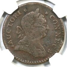 1788 5-B.2 R-5 NGC VF Details Mailed Bust Right Connecticut Colonial Copper Coin