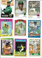 A's All-Time Greatest Lot of (58) Different Reggie Blue Tenace Bando Campaneris
