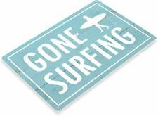 Gone Surfing Beach Surfboards Rustic Tin Metal Sign