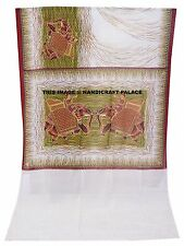 Indian Bollywood Elephant Printed Sequins Work Sari Chiffon Party Wear Saree