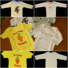 Lot Of 4 EcoBaby Cotton 3 Long Sleeve 1 Short Sleeve Baby One Piece 3-6 Months