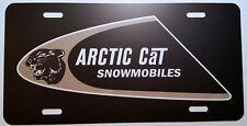 Vintage 70's Arctic Cat Snowmobile Swoosh Logo Novelty License Plate