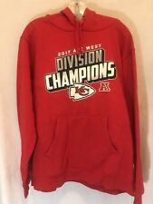 Kansas City Chiefs Division Champions Fanatics Pullover Hoodie Sweater Size L