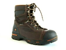 """EXCELLENT Timberland Pro Endurance 8"""" Steel Safety Toe Brown Leather Boots 10.5"""