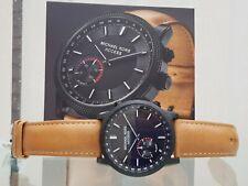 MICHAEL KORS Mens Access Watch HYBRID Smart Tan leather strap Black RRP £280