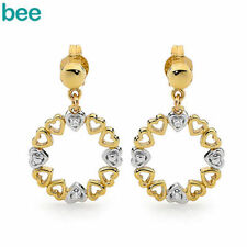 Diamond Yellow Gold Natural Fine Earrings
