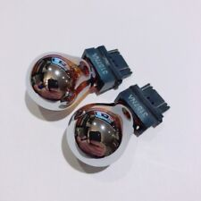 2x brand new 3157 silver chrome amber color light bulbs bulb turn signals