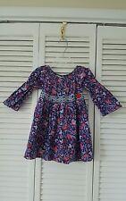 Art &S Soul Boutique girls size 5T blue, red bird floral print dress