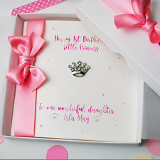 Girls 1st Birthday Personalised Handmade Luxury Boxed Card Daughter