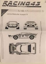 Decal 1:43 S.100.17 Lancia Stratos Bic Rally Acropoli 1979