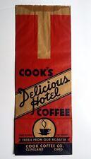 Vintage Cook's Coffee Bag Cleveland Ohio, Unused.