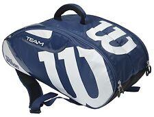 NEW! 2016 Wilson Tennis Racket Bag Racket Bag Team J 6 PACK Navy × White japan
