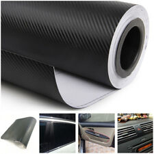 3D Car Interior Accessories Panel Black Carbon Fiber Vinyl Wrap Sticker Decor