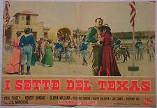 Fotobusta I SETTE DEL TEXAS 1964 GLORIA MILLAND PAUL PIAGET WESTERN