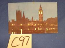 C97 VINTAGE POSTCARD PAN AMERICAN AIRLINES ENGLAND HOUSE OF PARLIAMENT LONDON