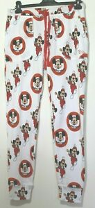 Peter Alexander White Mickey Mouse Waffle Easy Pant Sz  XL (16) NWT RRP $80