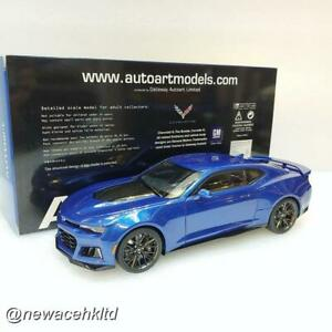 CHEVROLET CAMARO ZL1 2017 (HYPER BLUE METALLIC) AUTOART MODEL 1/18 #71209