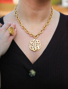 Susan Shaw Gold Universal Monogram Necklace