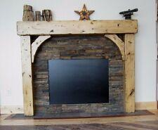 Fireplace Mantels Knotty Alder Beam & Brace Surround With Our Buckskin Finish