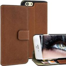 Blumax Leather Bag for Apple iPhone 6 Antique Braun Bookstyle Cards Fold Leather NEW