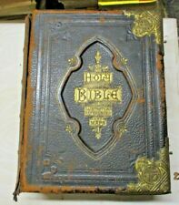 THE HOLY BIBLE by Rev. John Eadie  - J.C. MURDOCH LONDON 1860 circa ILLUSTRATA