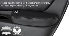 Stitch Nero 2x PORTA ANTERIORE Bracciolo in pelle copre si adatta ALFA ROMEO 166 98-07